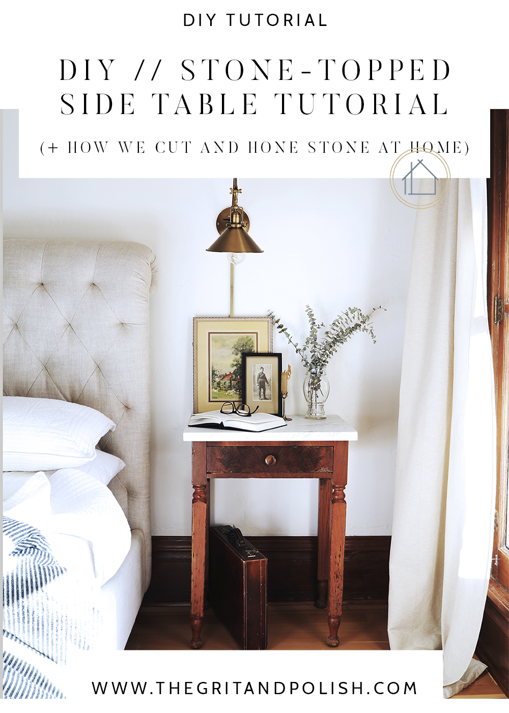 The Grit and Polish - How to DIY stone topped side table CROP.jpg