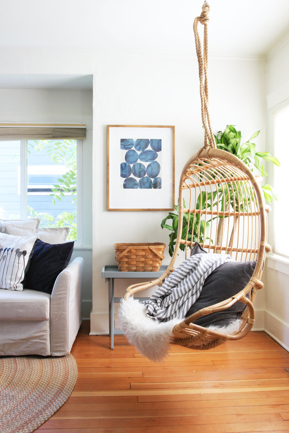 The Grit and Polish - Bryant Airbnb Living Hanging Chair 3.jpg