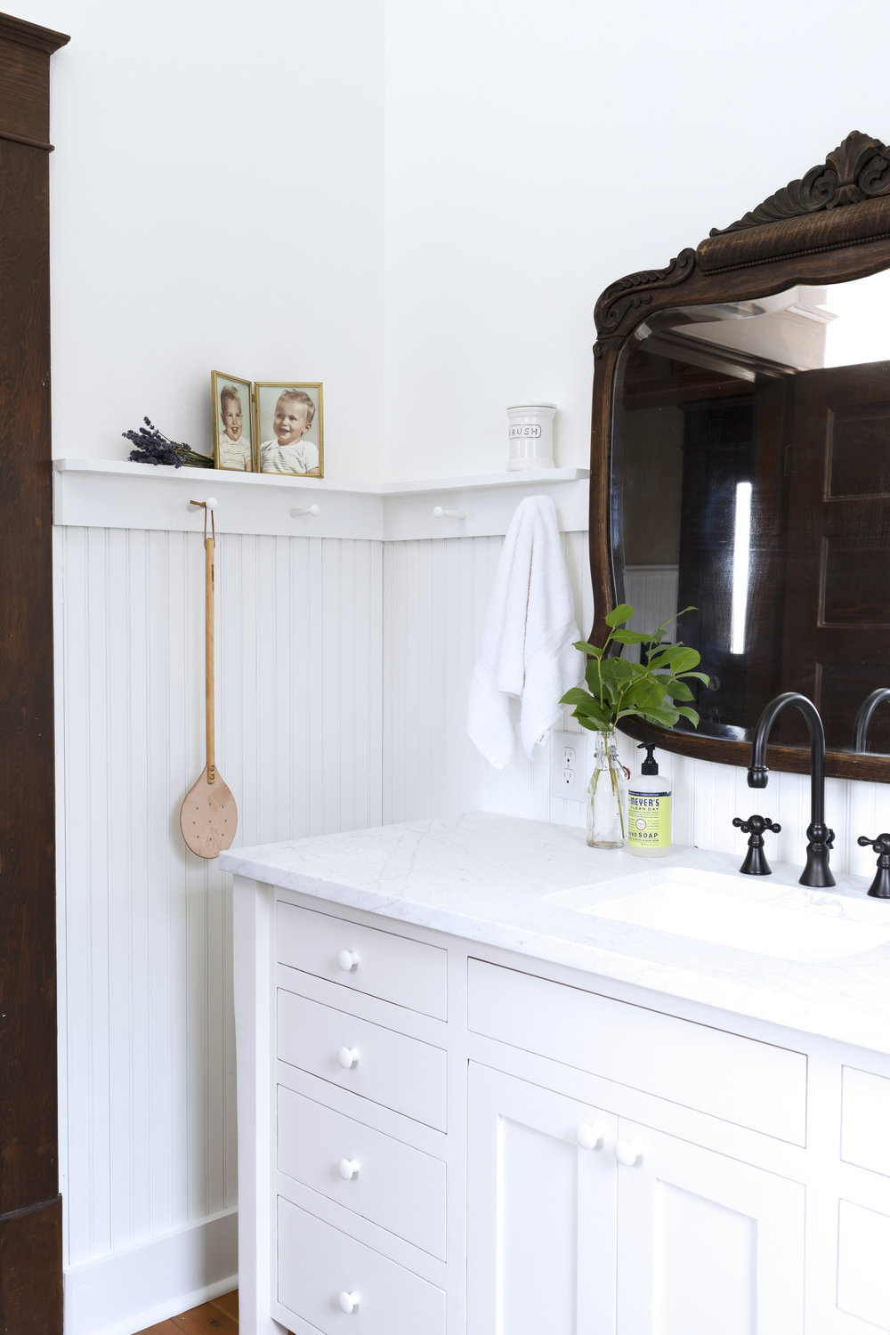 The Grit and Polish - Farmhouse Bathroom Budget Refresh Corner Baby Pic.jpg
