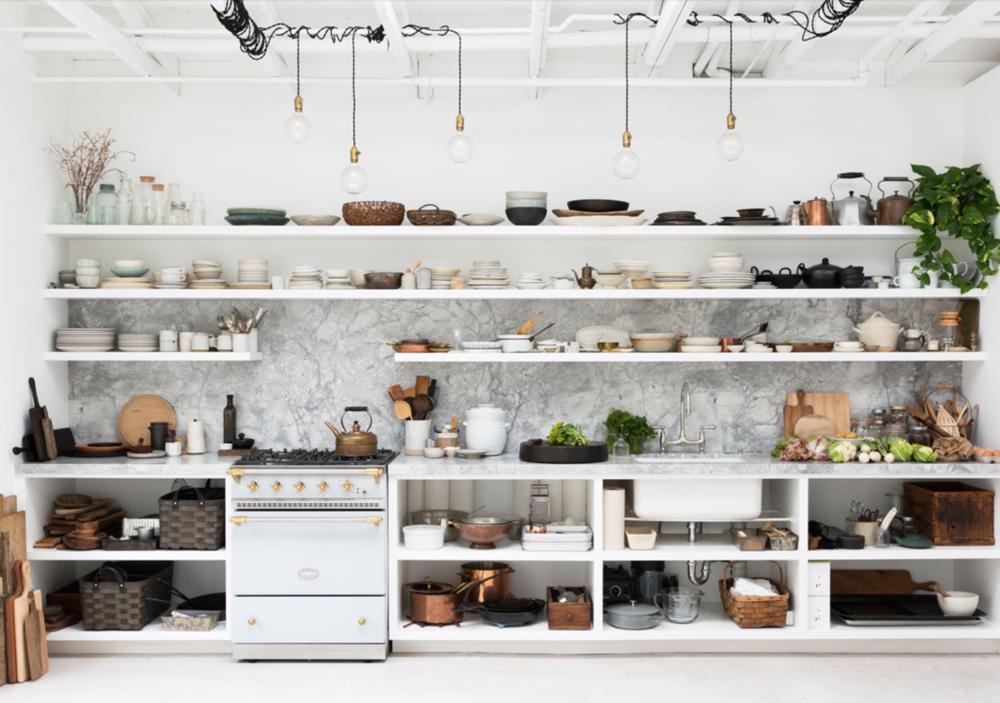 deconstructed kitchens // Backyard studio Erin Scott on Coco Kelley // via the Grit and Polish