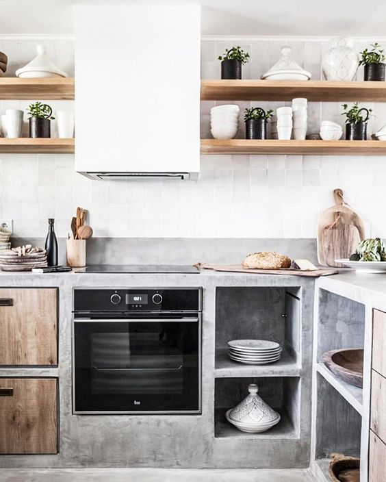 deconstructed kitchens // Kitchen via zocohome IG // on the Grit and Polish