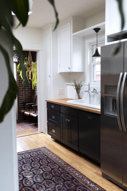 The Grit and Polish - Dexter Kitchen New Cabinet Door + Vintage Rug.jpg