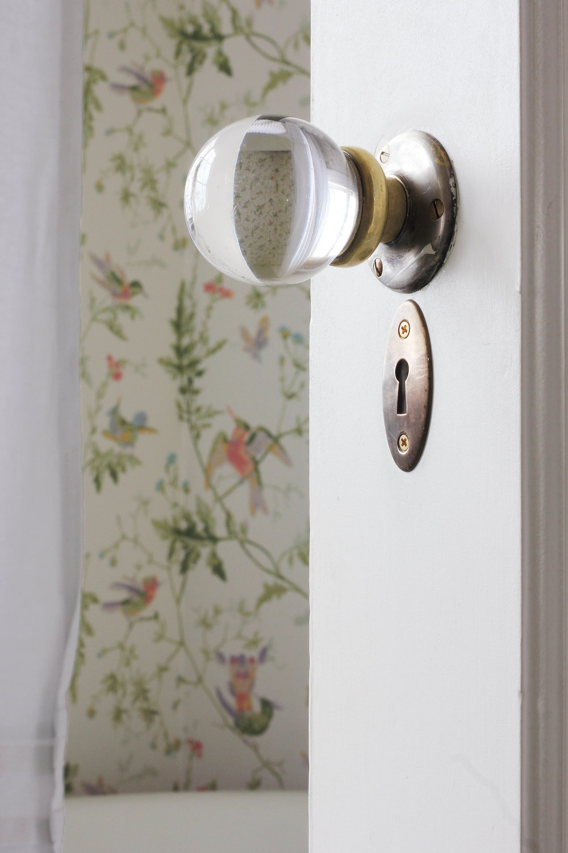 The Grit and Polish - Winnies Bathroom door knob with curtain.jpg