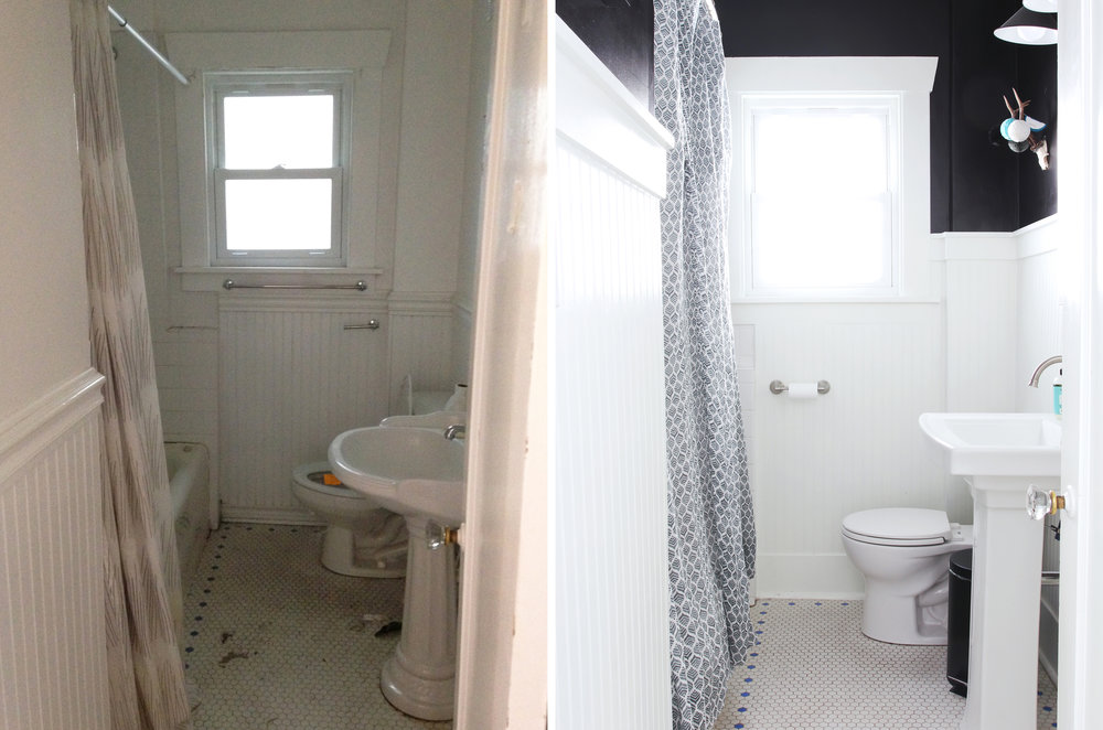 Bathroom Remodel for Under $1000 at the Dexter House // the Grit and Polish