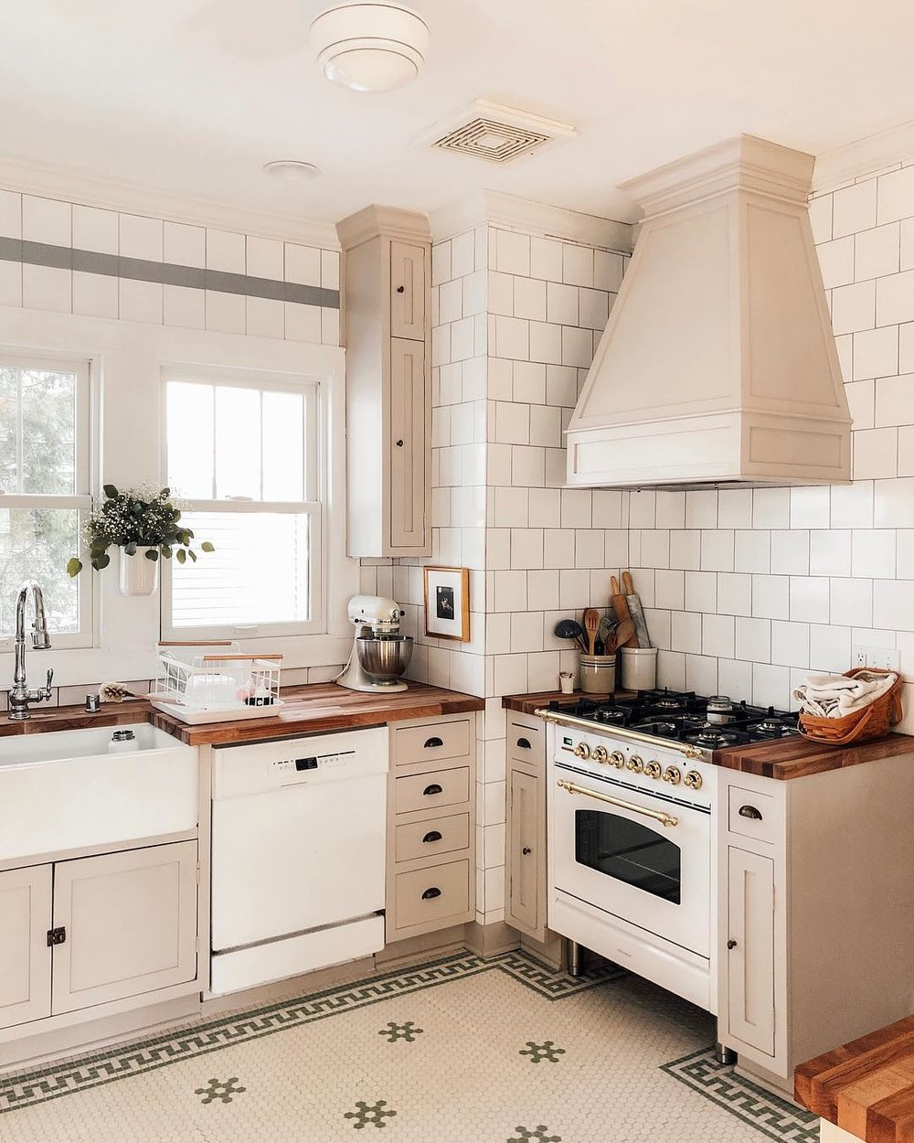 Bris Neutral kitchen // neutral cabinet paint colors for kitchens // the Grit and Polish