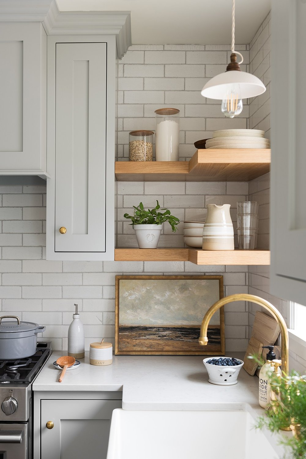 Tinge Floral (via SM) // neutral cabinet paint colors for kitchens // the Grit and Polish