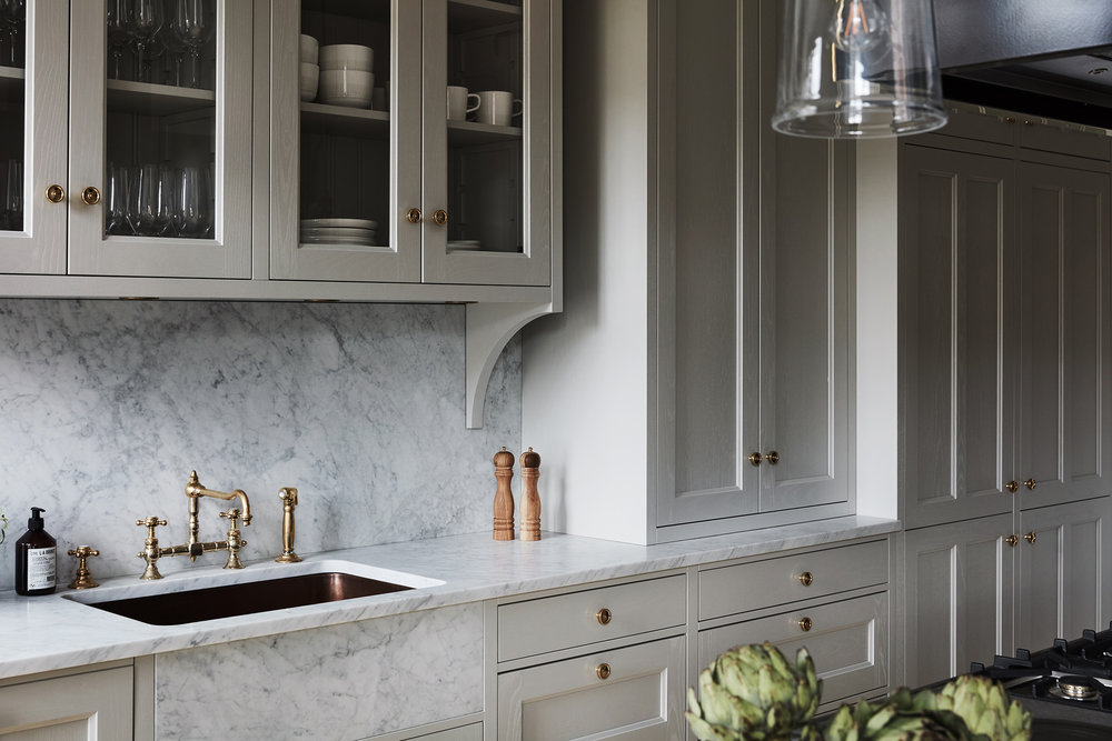 Kitchen and Beyond // neutral cabinet paint colors for kitchens // the Grit and Polish