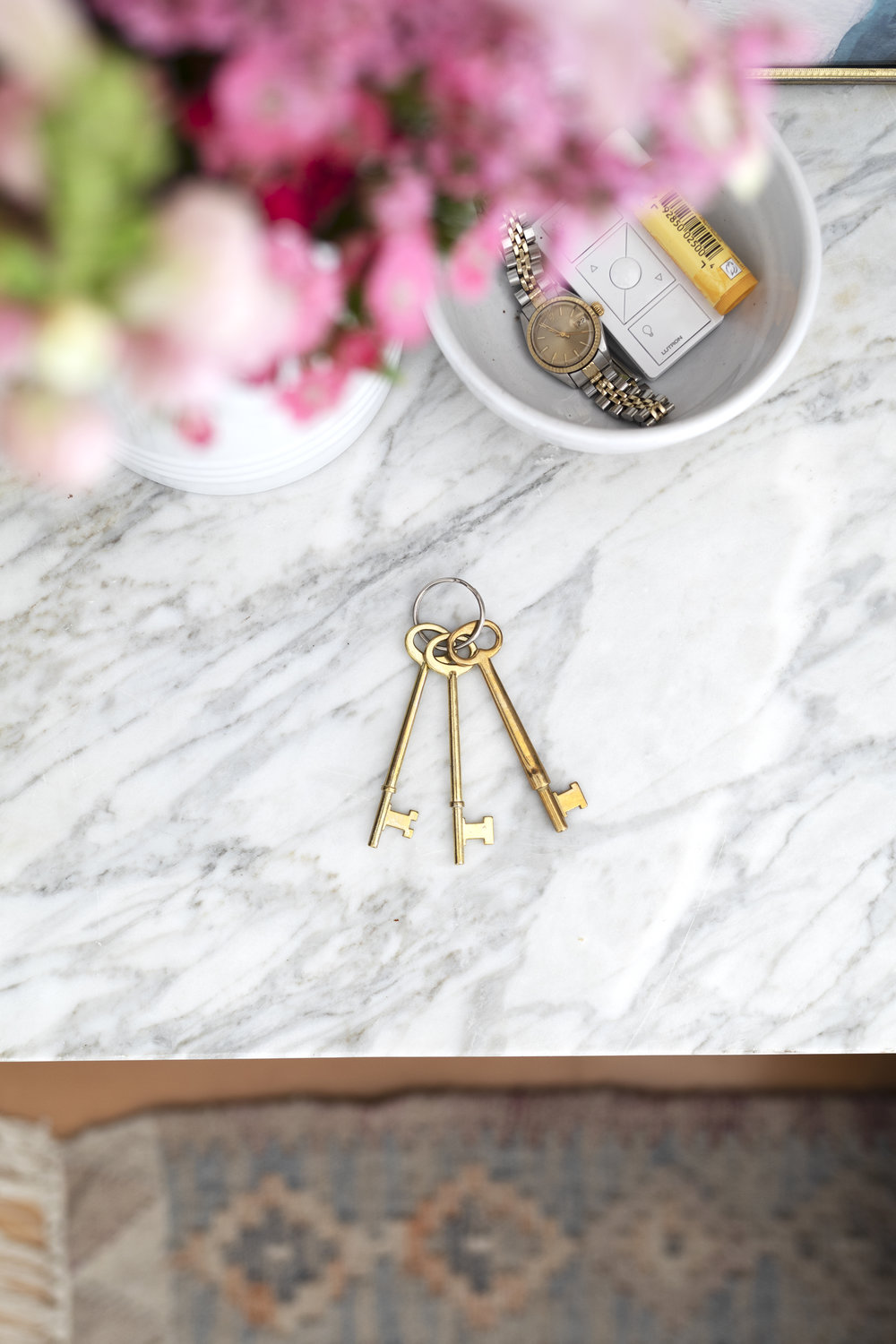 The Grit and Polish - Farmhouse Master Door with Skeleton Keys on Ring.jpg