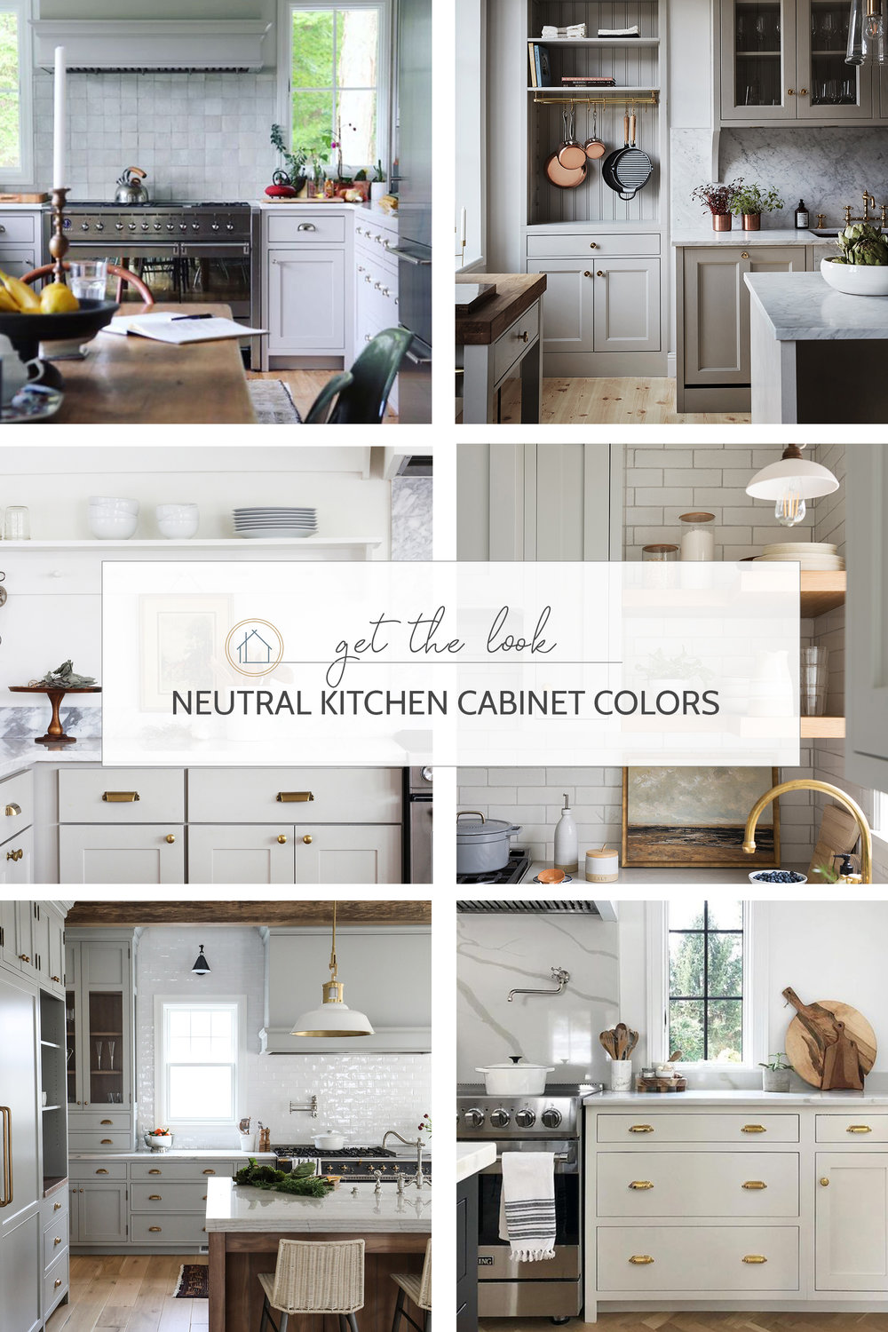 neutral cabinet paint colors for kitchens // the Grit and Polish