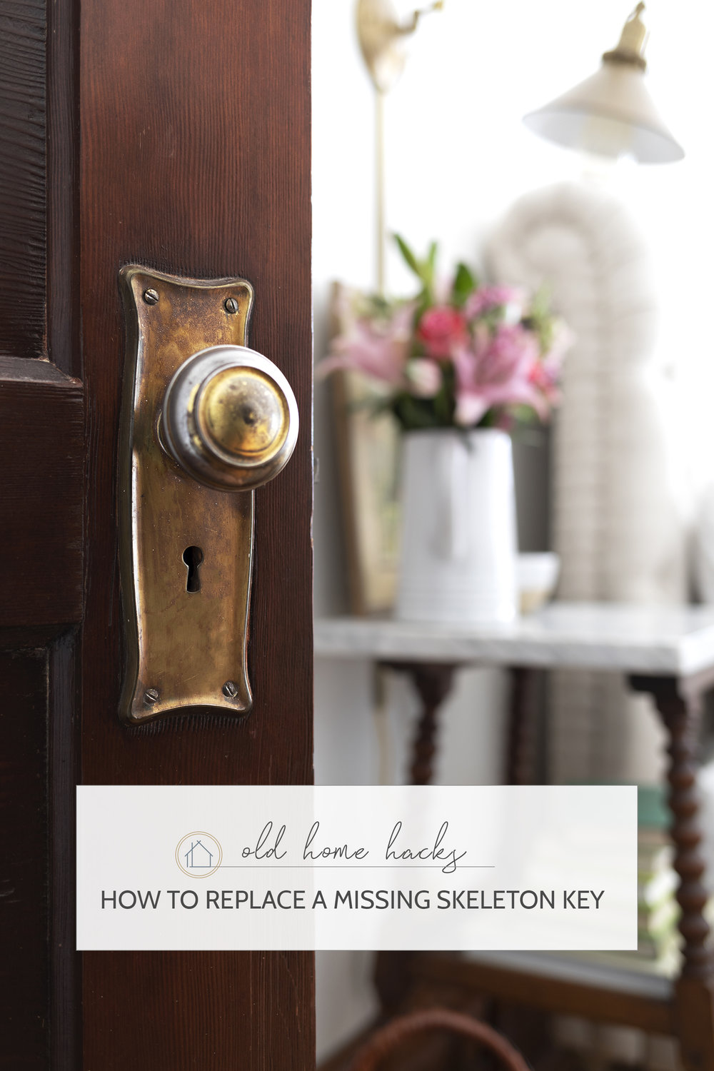 how to replace a skeleton key for an old door // the Grit and Polish