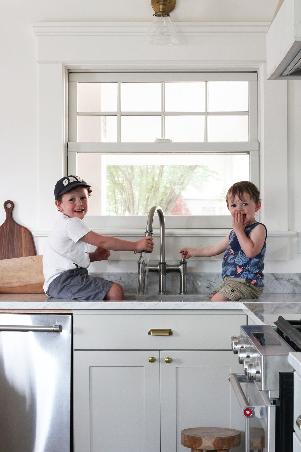The Grit and Polish - Porch Kitchen Boys in Elkay Sink 1.2