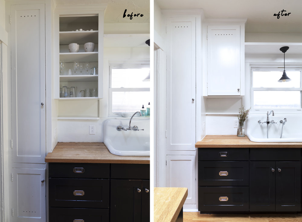 The Grit and Polish - Dexter Kitchen Cabinets NO DOOR B and A.jpg