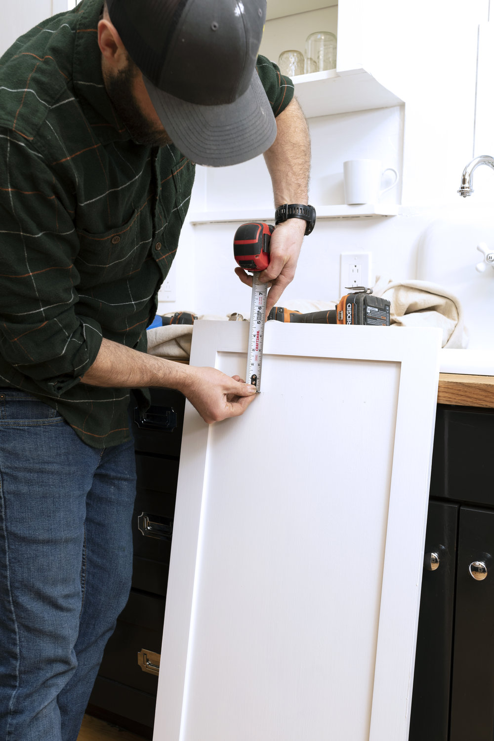 The Grit and Polish - Dexter Kitchen Cabinet Install Measure.jpg
