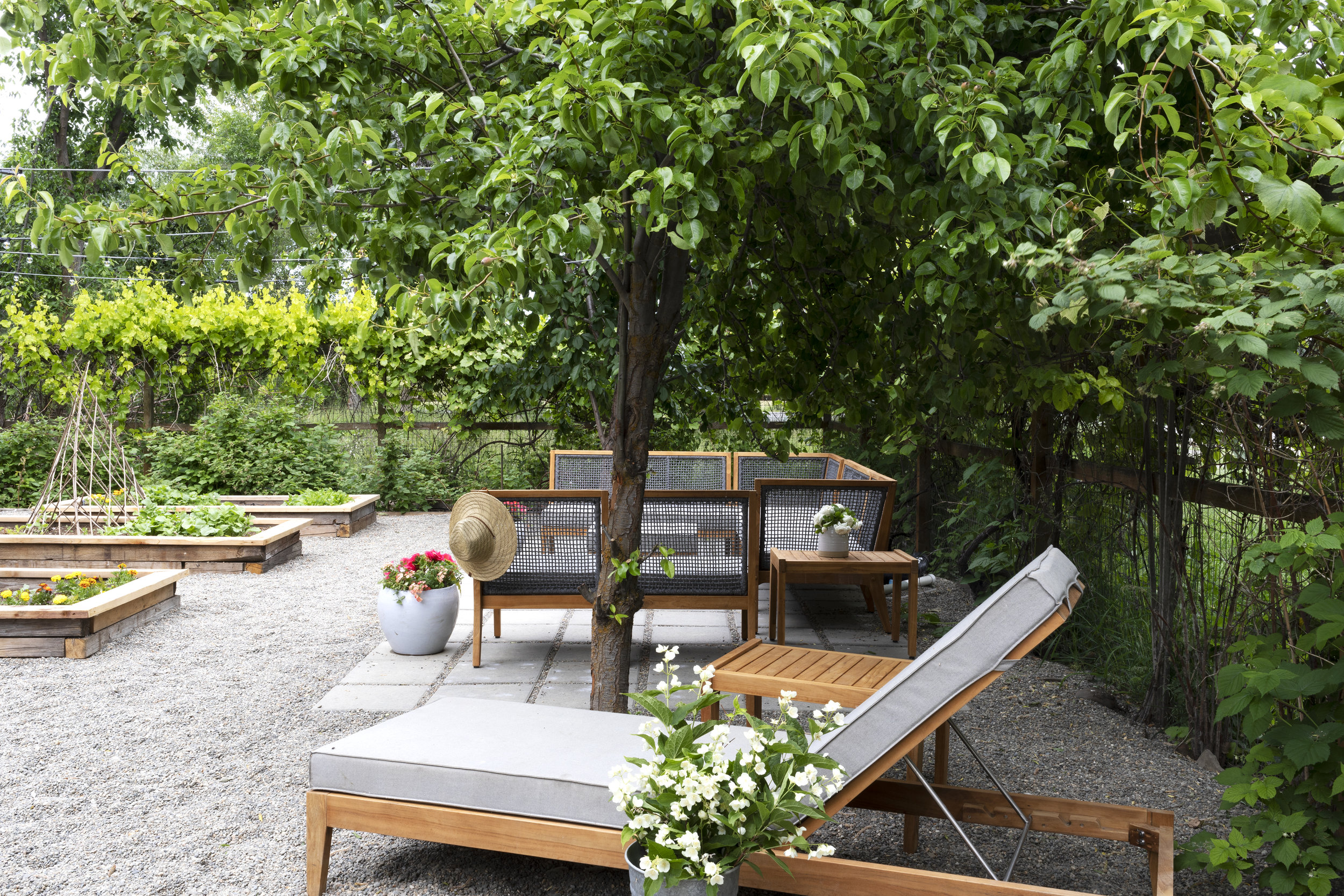 Our Farmhouse Garden And Outdoor Living Space The Grit And Polish