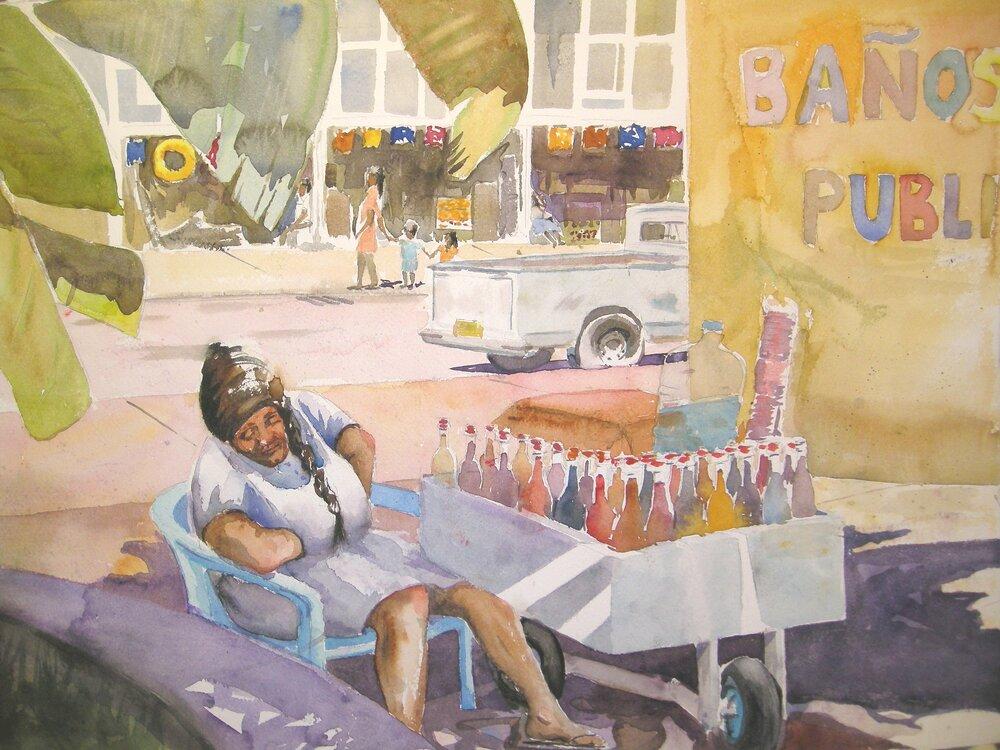 Sleepy Sno-Cones Acapulco  - Watercolor 59cmx38cm €430