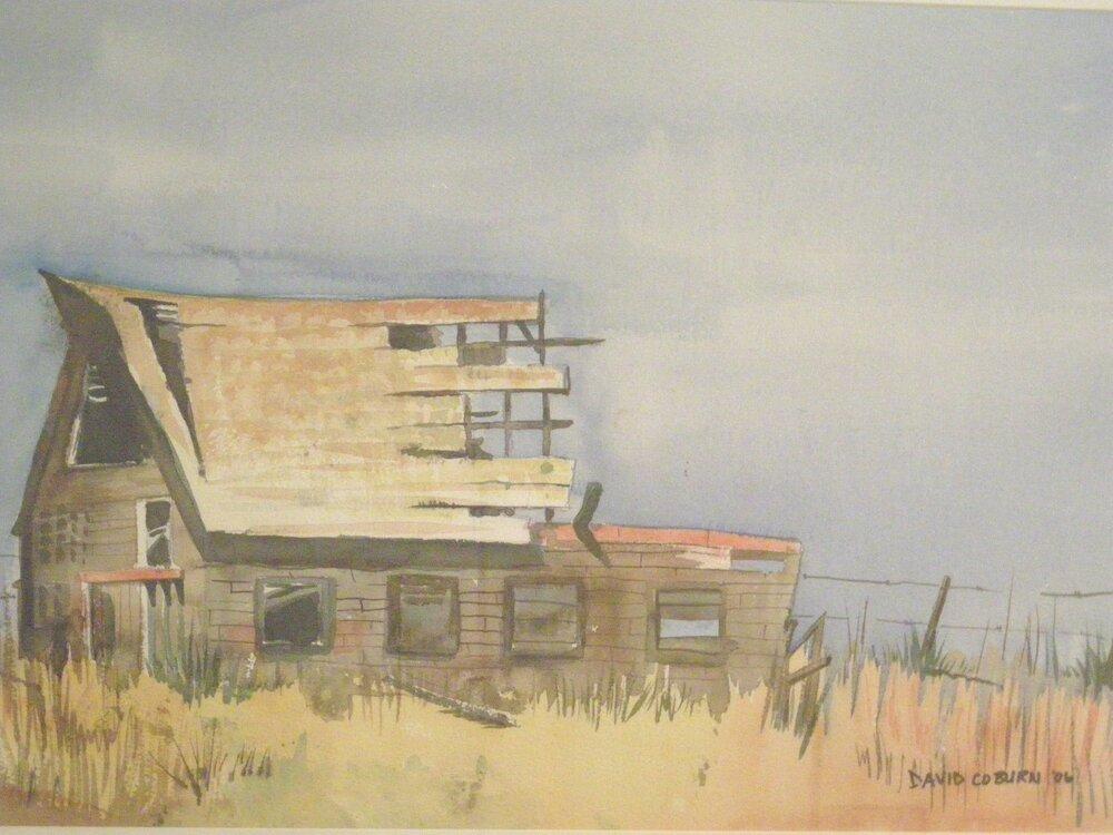 Broken Barn  - Watercolor 59cmx38cm €SOLD€