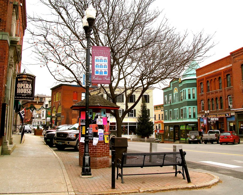Bellows Falls courtesy of  vermontartsliving.com