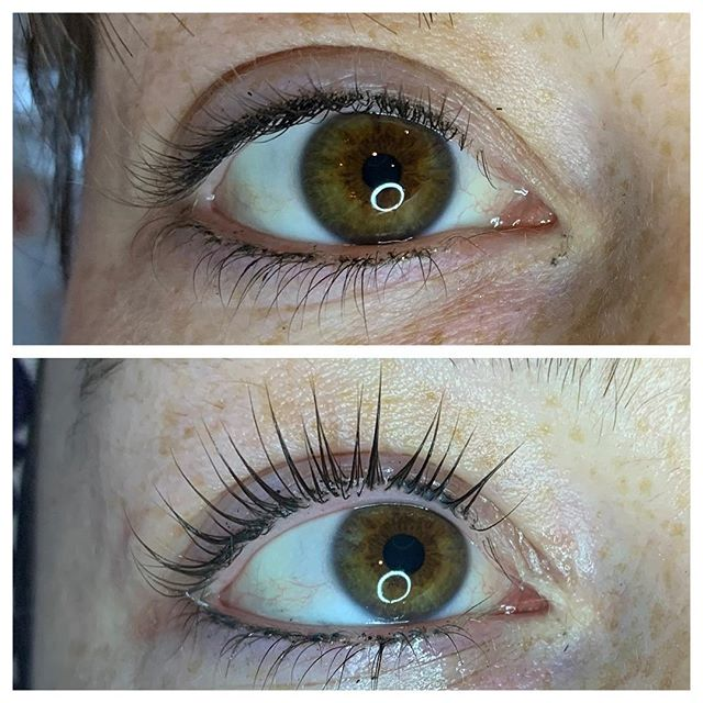 #lashlift by @danae.the.esty look at that difference!  #salon #beauty #lashes #esthetician #spa #eyes #picoftheday #brows #eyebrows