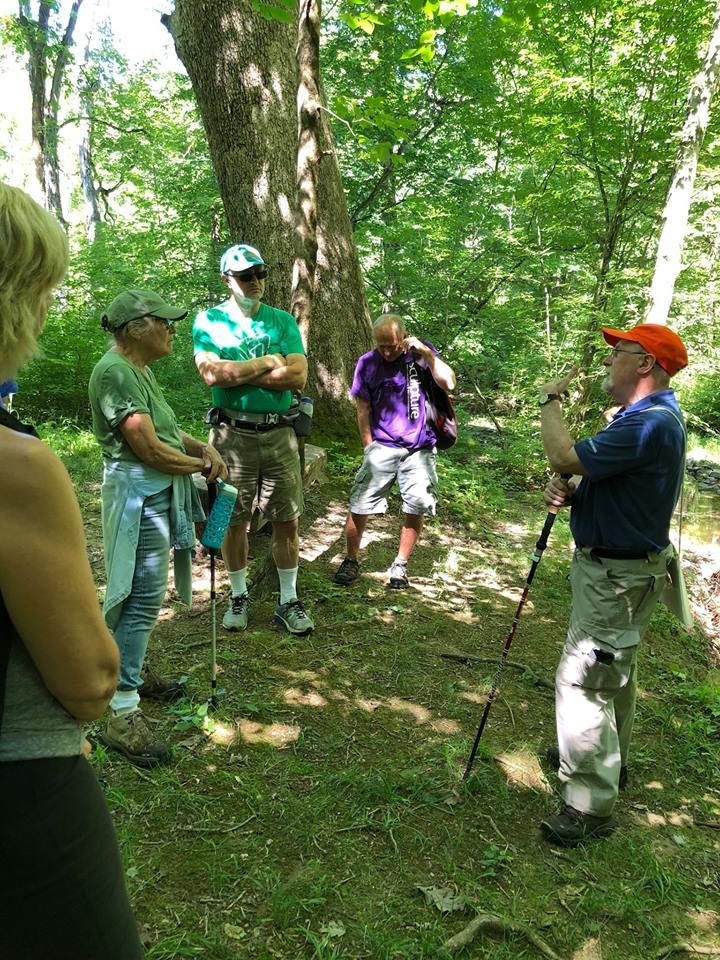 Ian Burrow leading a historic landscapes hike.