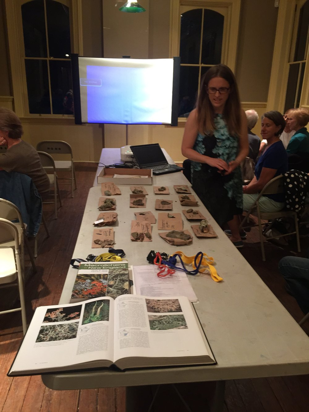 Dr. Natalie Howe presents on Lichens of the Sourlands.