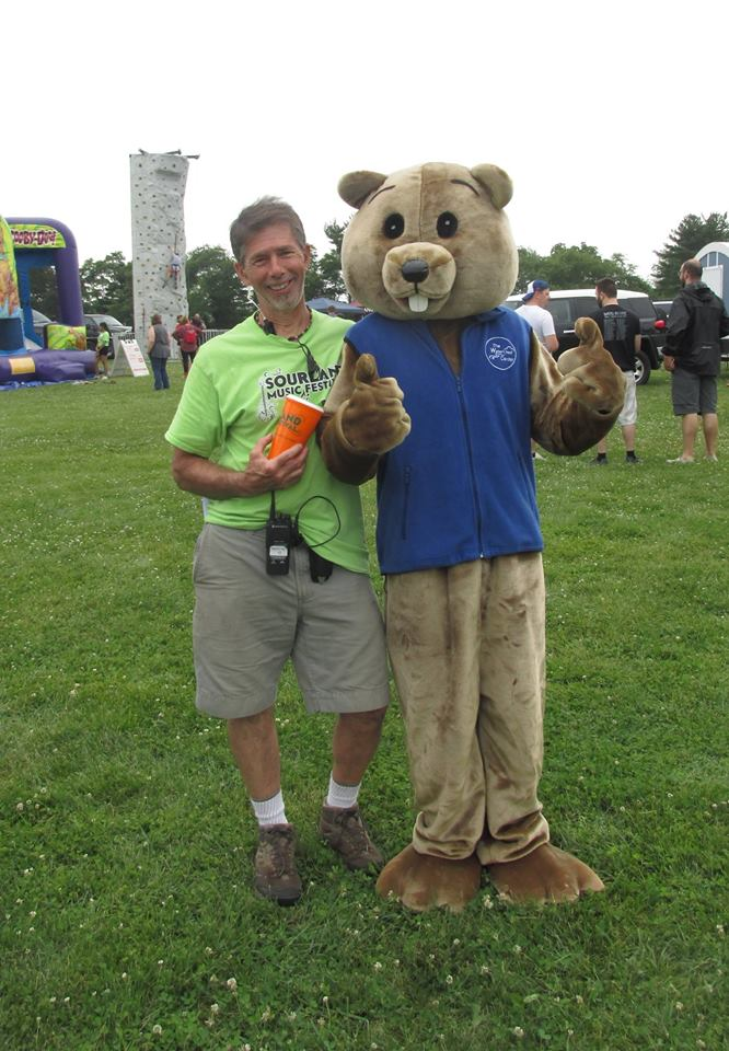 Tim Johnson volunteering at the Sourland Mountain Festival.