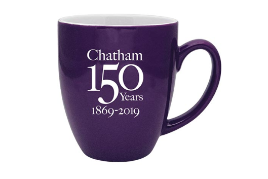 chatham-university-mug-purple-150th-anniversary