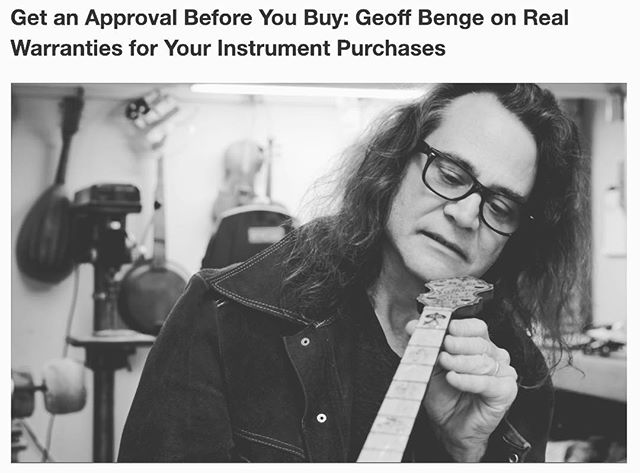 Read Geoff's latest Expert Tip on getting a real warranty for your instrument purchases. February discounts are available for classes! Link in bio. #geoffbengesguitarshop #guitarrepair #expert #repair #guitar #classes #guitarclasses #february #luthier #guitars