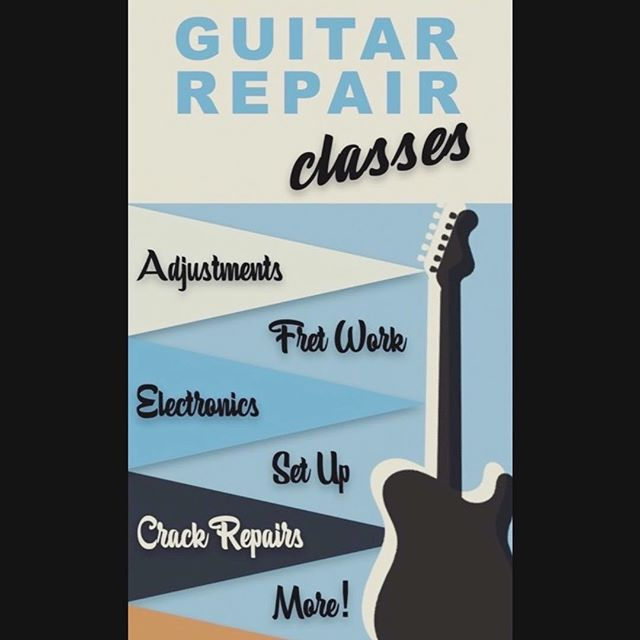 Students have successfully finished dressing frets in their guitar and finished adjustments and prep work for the complete set up! Next week we'll finish setting up their first and second guitar and learn about replacing electronics. Two spots left for February! Discounts available online. Link in bio. #guitar #geoffbengesguitarshop #chicagoguitarrepair #guitar #restoration #repair #custom #electronics #classes #frets #fretwork #guitarclasses #workshop #shop