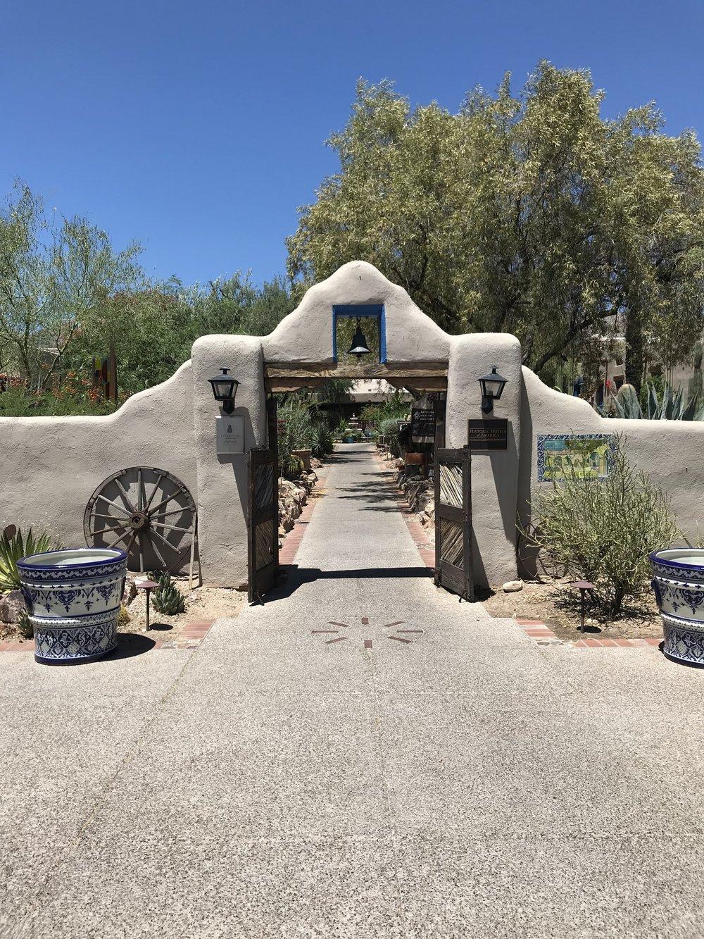 The entrance of Hacienda Del Sol Guest Ranch Resort