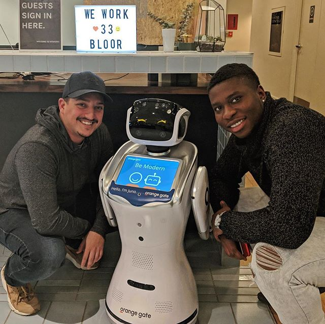 It's official! We're now part of the WeWork network, working out of 33 Bloor St. E in Toronto! It feels so right that our workspace is as modern as our robots. #robot #innovation