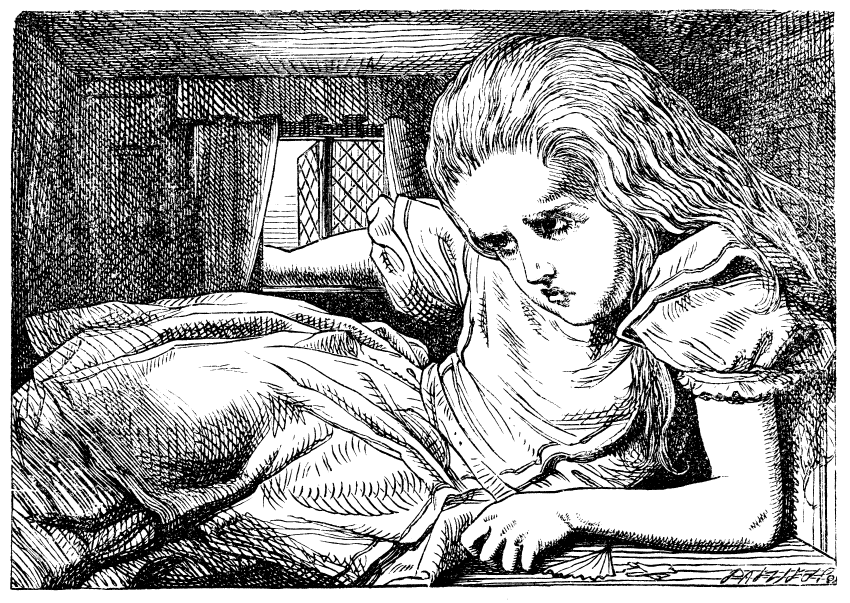 Alice, drawing by John Tenniel