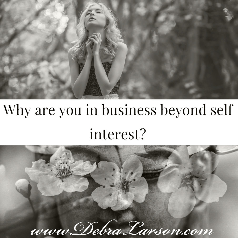 How do you serve? - Part of you being on your purposeful path is being in service. Beyond making money, what is the bigger purpose of your business? What is your contribution to the world thru your business?Or, if you are thinking about creating a business, how could it serve, or better another life thru sharing what you already love doing? And/or have gone through yourself? xo, d