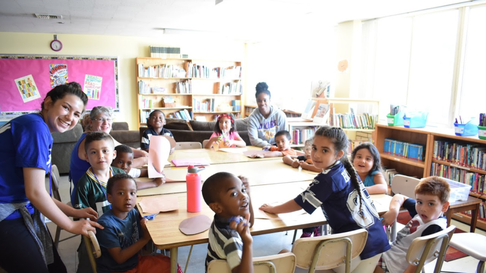 Rising TIDE works with nearly 400 children and youth throughout the year, serving about 100 a day. -