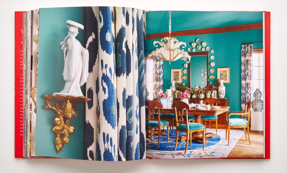 Stephen Karlisch Wanderlust Teal Dining Room