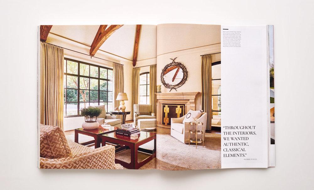 Stephen Karlisch Luxe Elegant Expanse Living Room