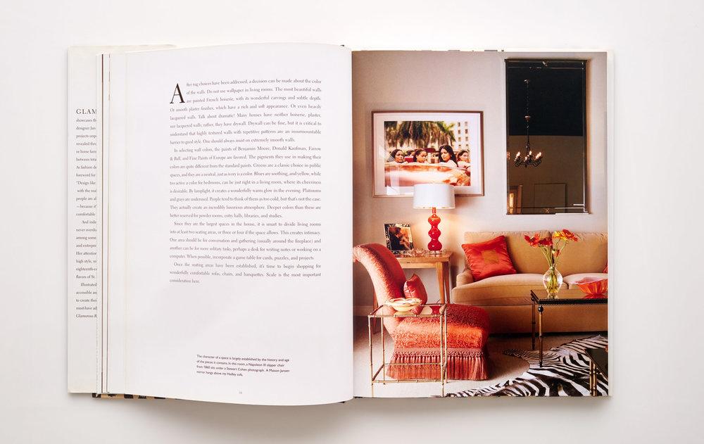Stephen Karlisch Jan Showers Glamorous Rooms Red Living Room