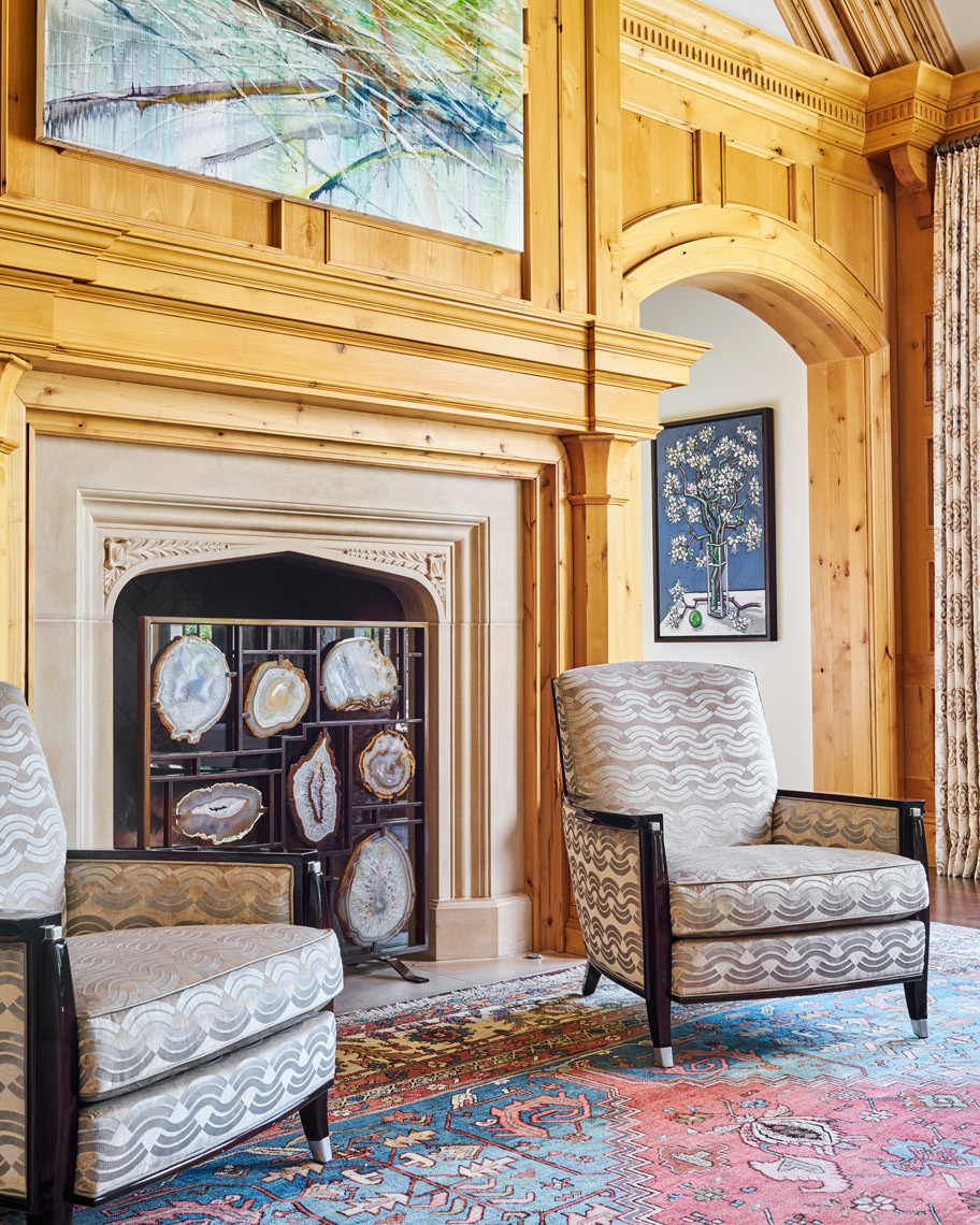 Stephen Karlisch Meadwood Project Family Room Detail