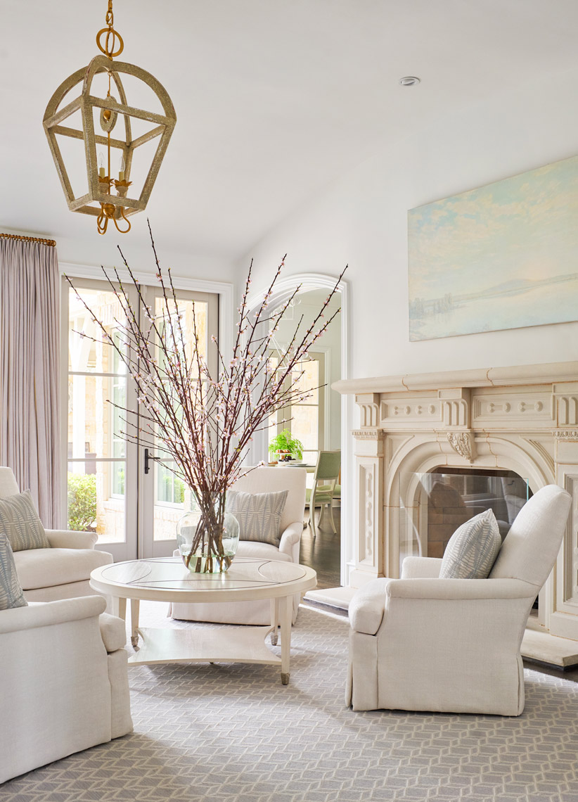 Stephen Karlisch Southlake Project Living Room Fireplace