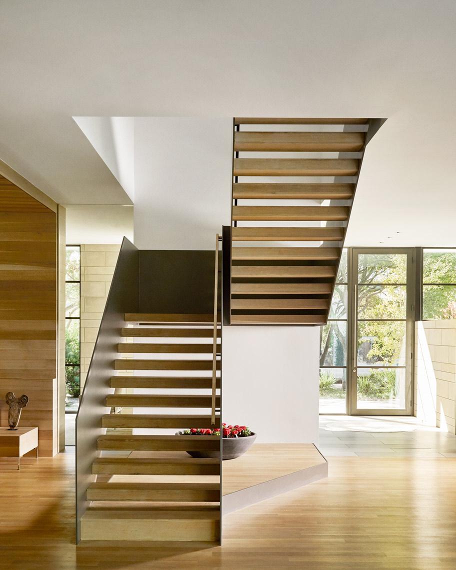 Stephen Karlisch Caruth Half-turn Stair