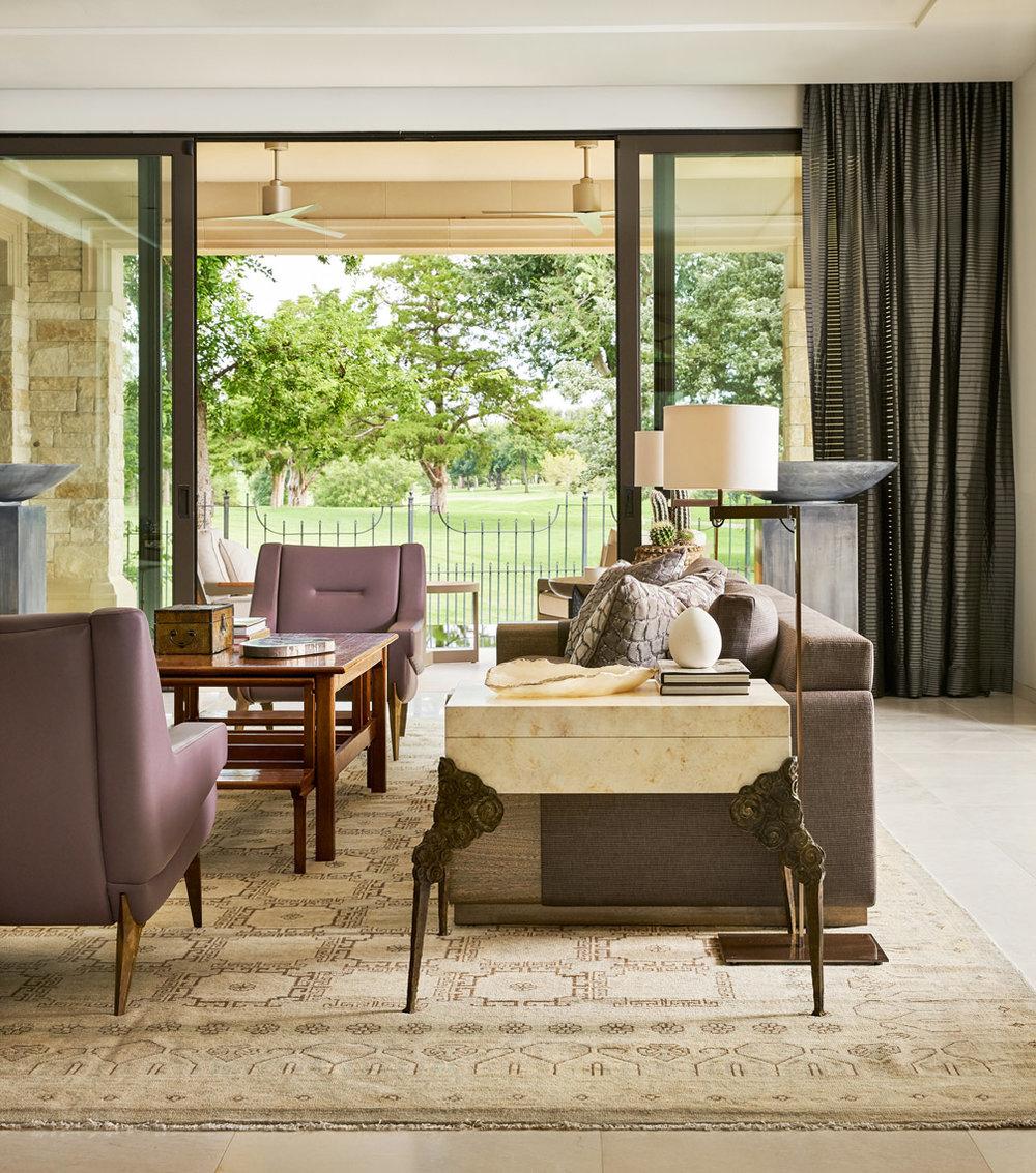 Stephen Karlisch Sees Design Project Living Room
