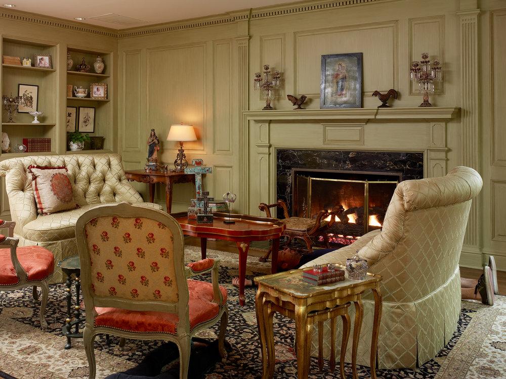Stephen Karlisch Deadshots Classic Colonial Living Room