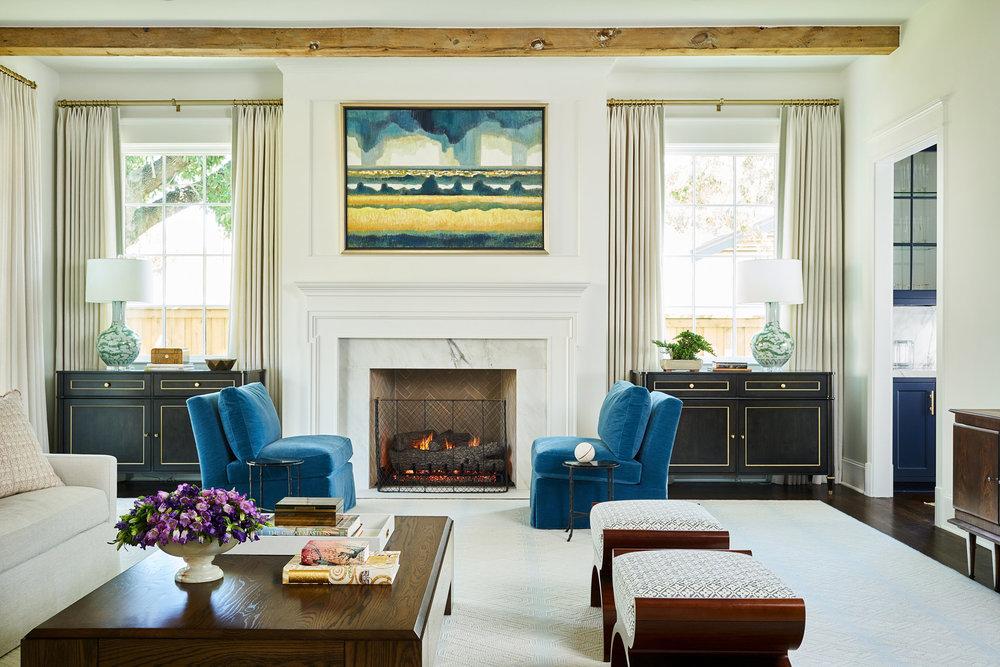 Stephen Karlisch Colgate Project Living Room Fireplace