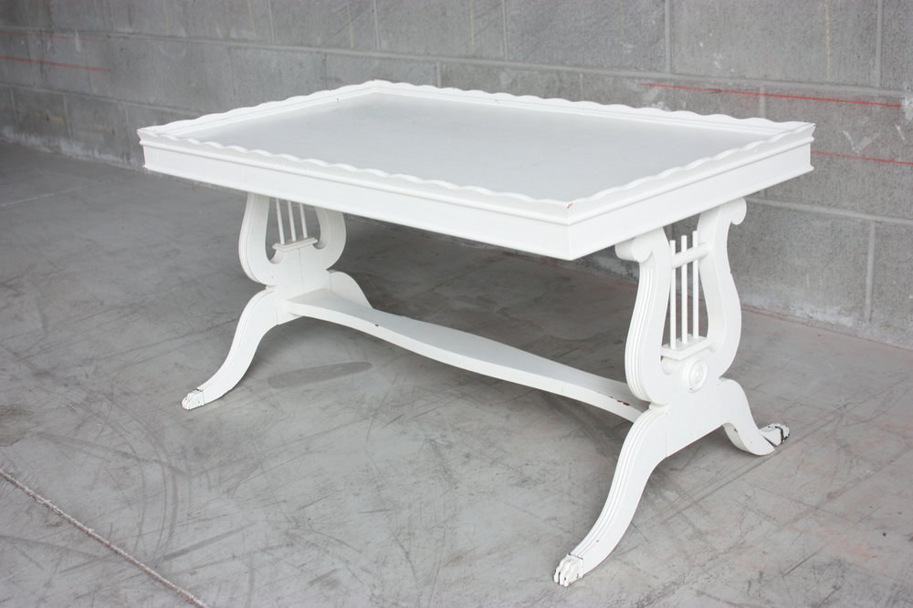 White Rectangle Coffee Table