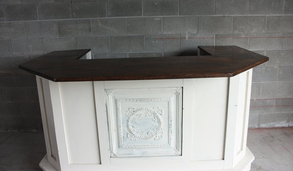 Antique White Bar