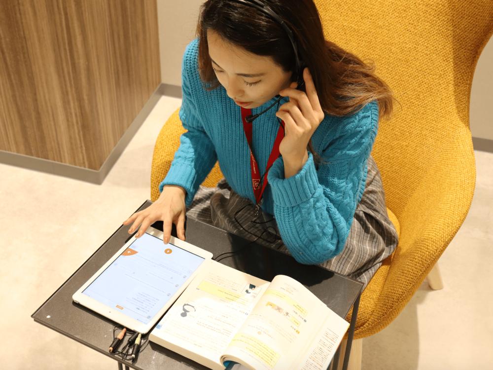 参考書連動型AI英会話学習アプリによる学習イメージ画像