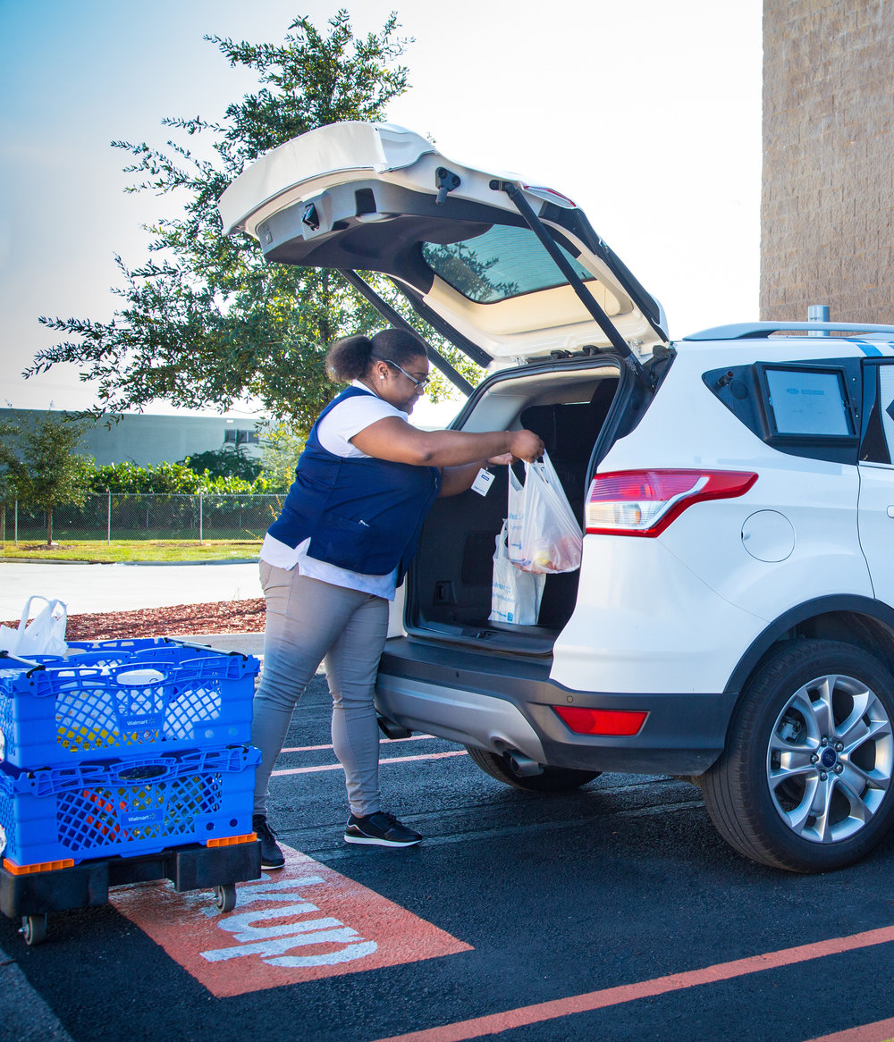 What is Walmart Delivery? - Walmart Delivery is Walmart's grocery delivery solution. Customers can buy groceries online to be delivered to them at their home or work. Walmart associates shop the order and Walmart Delivery contractor drivers deliver.