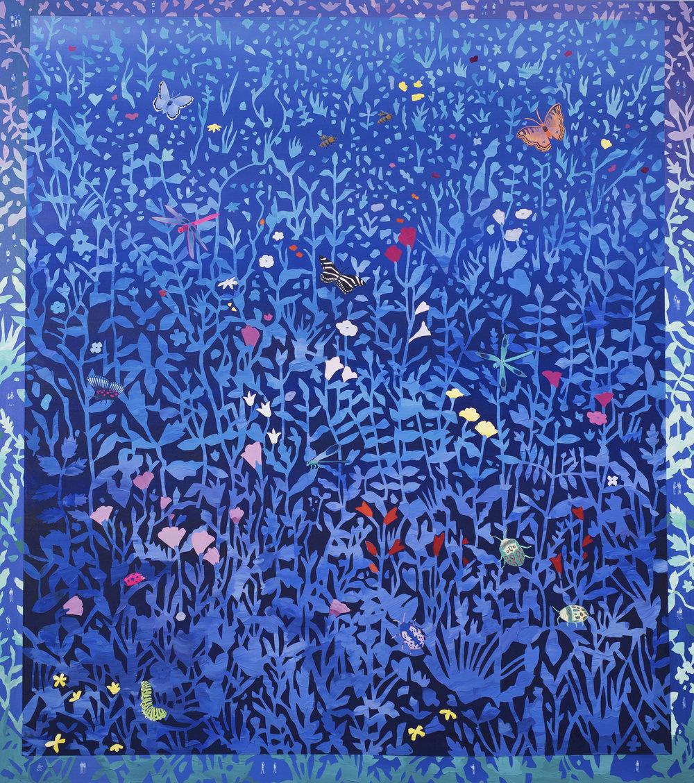 Blue Garden Walls