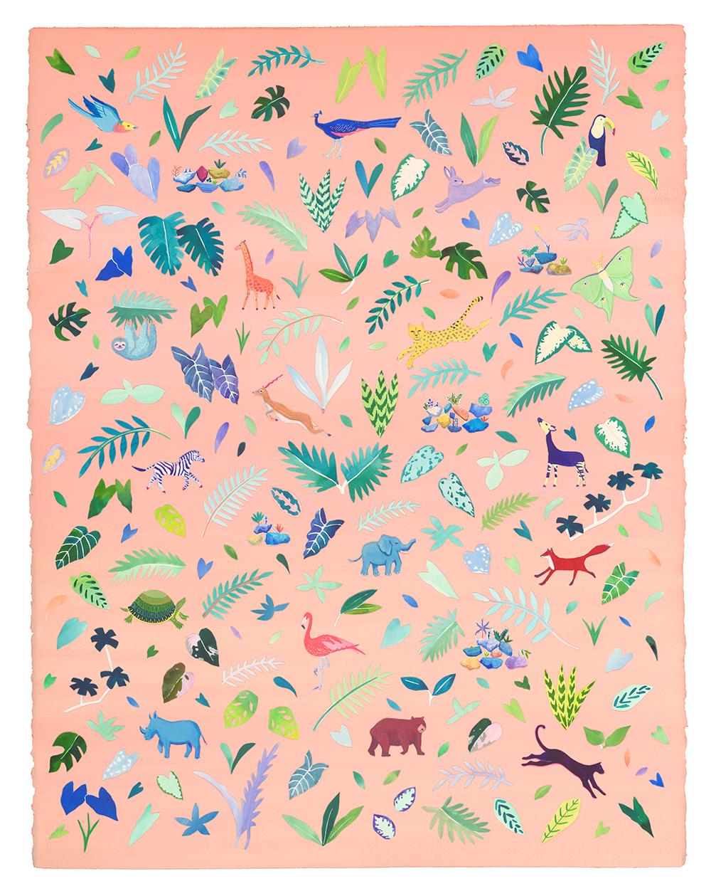 Peach Garden Tapestry