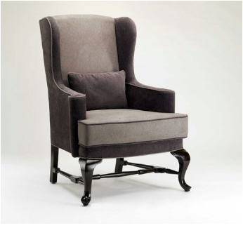 Queen Anne Wing Chair -