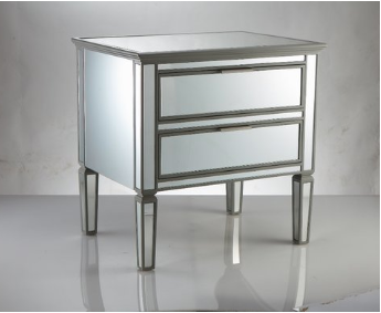 Mirror Bedside Table -